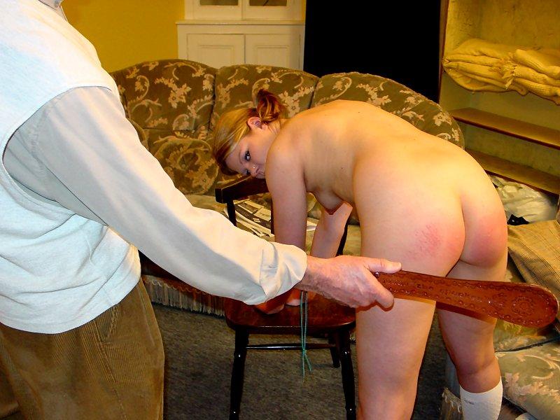 Bare Bottom Spanked Wife